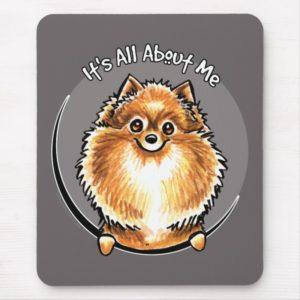 Orange Pomeranian IAAM Mouse Pad