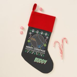 Personal Doberman Pinscher Ugly Christmas Sweater Christmas Stocking