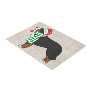 Personalized Christmas Bernese Mountain Dog Burlap Doormat