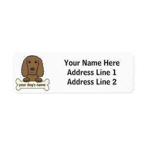 Personalized English Cocker Spaniel Label