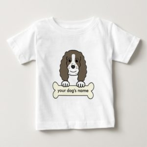 Personalized English Springer Spaniel Baby T-Shirt
