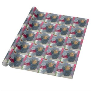 Queen Zoey the French Bulldog Wrapping Paper