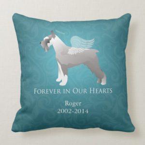 Schnauzer Pet Memorial Design Throw Pillow