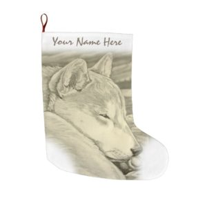 Shiba Inu Christmas Stocking Custom Dog Stocking
