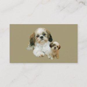Shih Tzu Breeder  Business Card