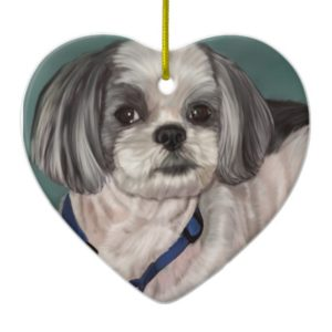 Shih Tzu Ceramic Ornament