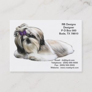 Shih Tzu Dog Business Cards