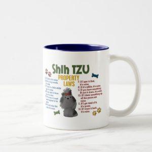 Shih Tzu Property Laws 4 Two-Tone Coffee Mug