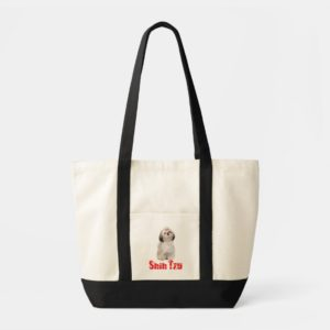 Shih Tzu Puppy Dog Love  Reusable Tote