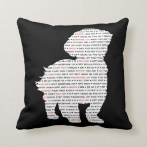 Shih Tzu Word Art Throw Pillow