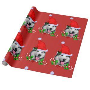 Siberian Husky Christmas Wrapping Paper