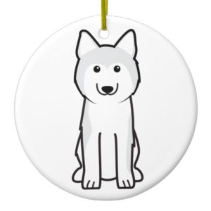 Siberian Husky Dog Cartoon Ceramic Ornament
