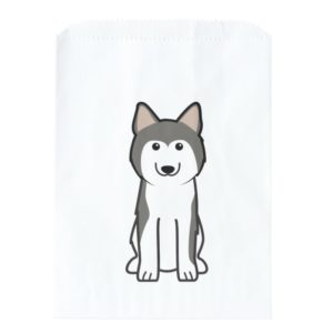 Siberian Husky Dog Cartoon Favor Bag