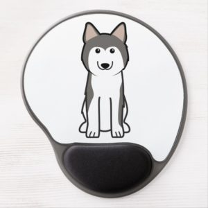 Siberian Husky Dog Cartoon Gel Mouse Pad