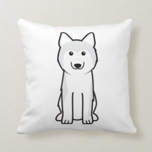 Siberian Husky Dog Cartoon Throw Pillow