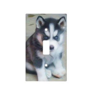 Siberian Husky dog Light Switch Cover