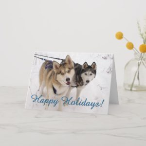 Siberian Husky Holiday Card