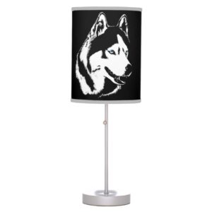 Siberian Husky Lamp Full Moon Husky  Lamps Gifts
