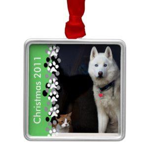 Siberian Husky Photo Metal Ornament