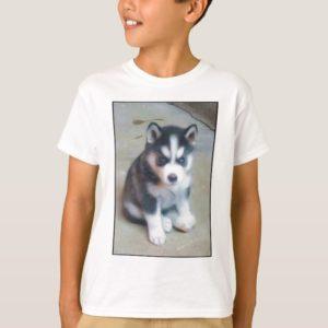 Siberian Husky puppy art T-Shirt