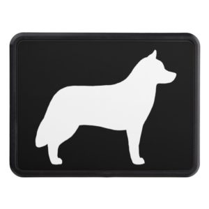Siberian Husky Silhouette Trailer Hitch Cover