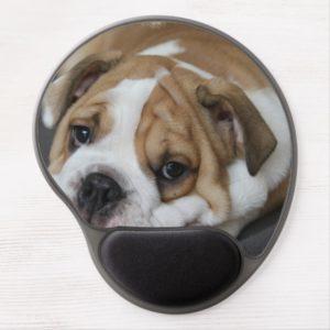 Sleeping Bulldog Gel Mouse Pad