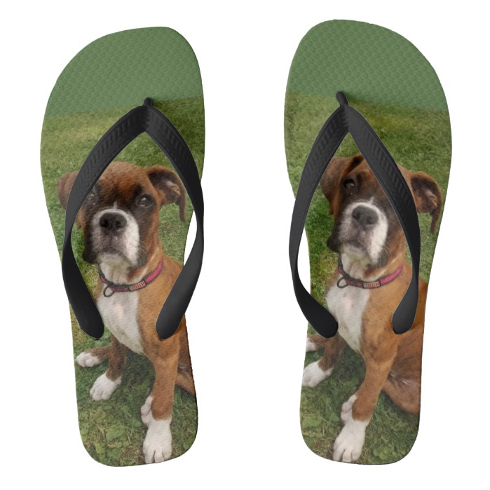 THE BOXER DOG flip flops - Dog and Doll