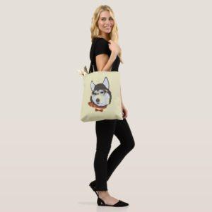 The Cool Siberian Husky Dog Tote Bag
