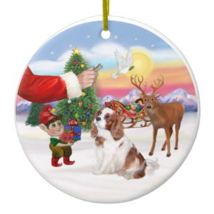 Treat for a Blenheim Cavalier King Charles Spa Ceramic Ornament