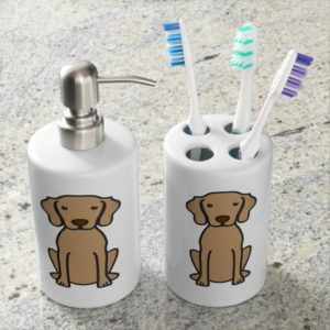 Vizsla Dog Cartoon Bath Set