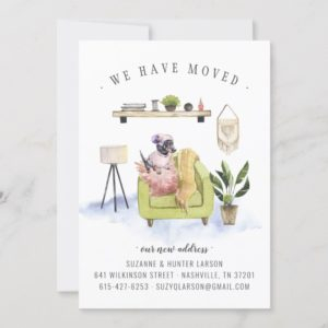 We Have Moved | Dachshund Dog Moving Announcement