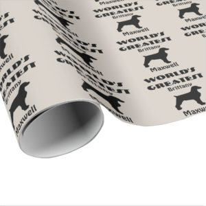 Worlds Greatest Brittany Dog Wrapping Paper