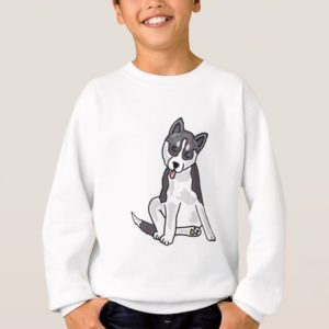 XX- Siberian Husky Puppy Dog Sweatshirt